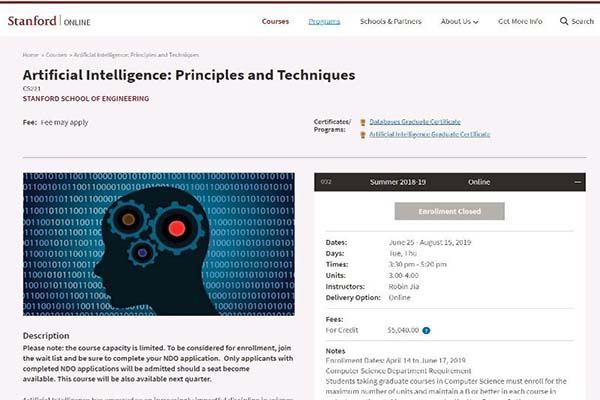 Artificial Intelligence: Principles and Techniques