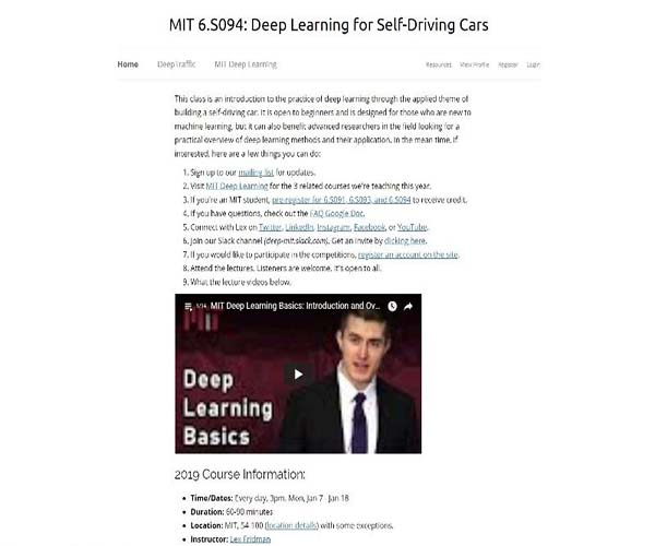 Deep Learning for Self-Driving Cars