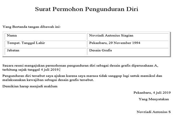 Photo of 5 Contoh Surat Pengunduran Diri Dari jabatan