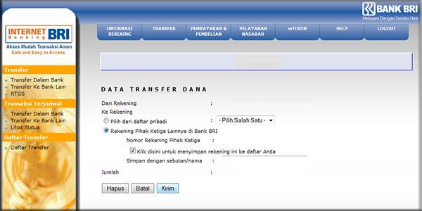 mendaftar Internet Banking BRI