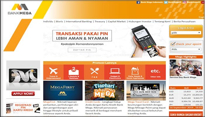 Cara Registrasi Internet Banking Bank Mega