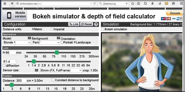 Bokeh Simulator No Sensor