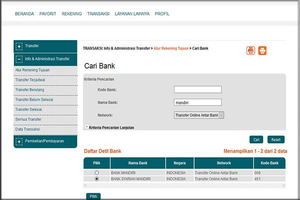 Pendaftaran dengan menggunakan BNI ATM