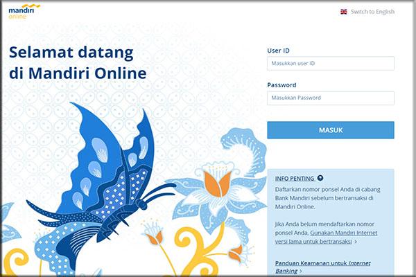 Cara mendaftar untuk layanan perbankan Internet Mandiri