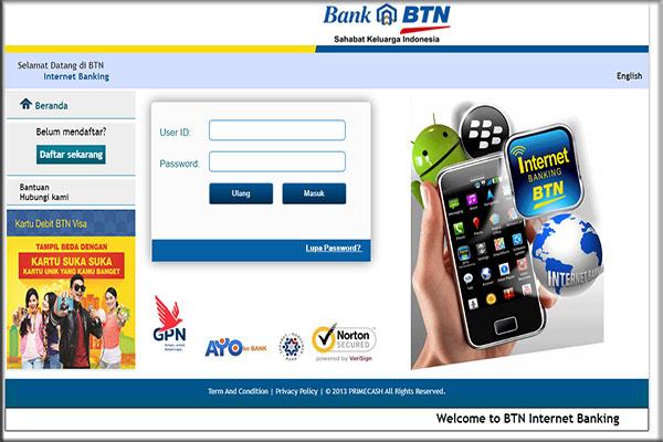 Syarat dan ketentuan untuk menggunakan BTN Internet Banking