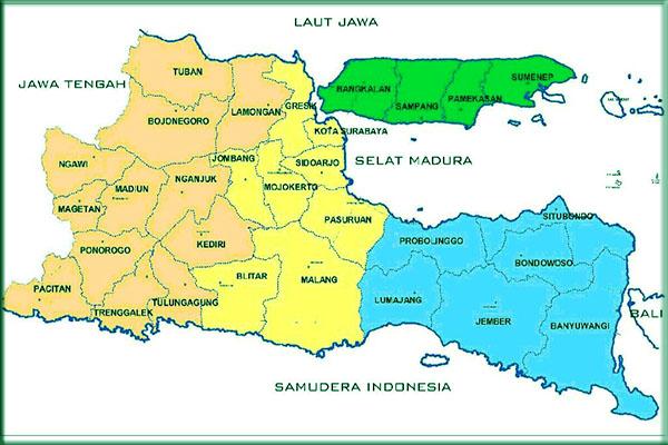 Sejarah Pembentukan Peta Jawa Timur