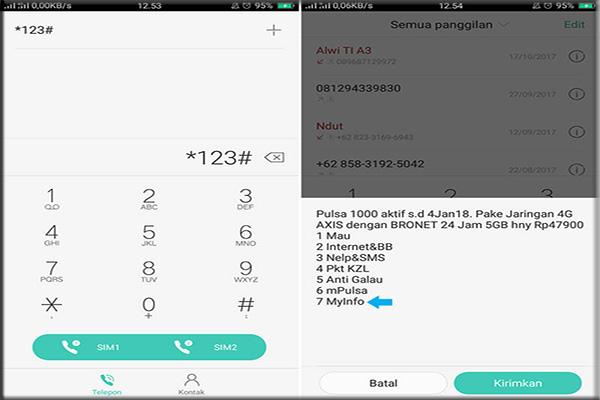 Cara memverifikasi kuota internet AXIS melalui SMS