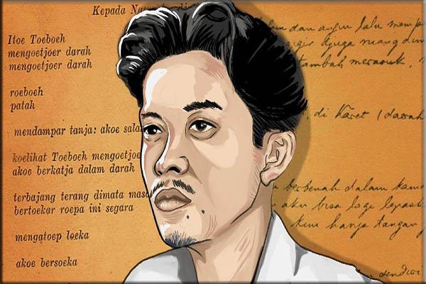 Puisi Chairil Anwar tahun 1942