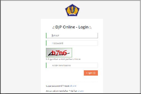 registrasi djp online