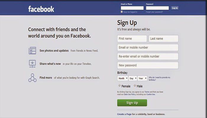 Langkah Membuat Akun Di Facebook
