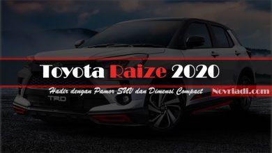 Photo of Toyota Raize 2020 dengan Pamor SUV dan Dimensi Compact