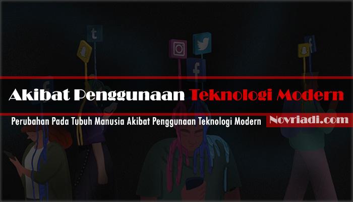√ 4 Perubahan Pada Tubuh Manusia Akibat Penggunaan Teknologi