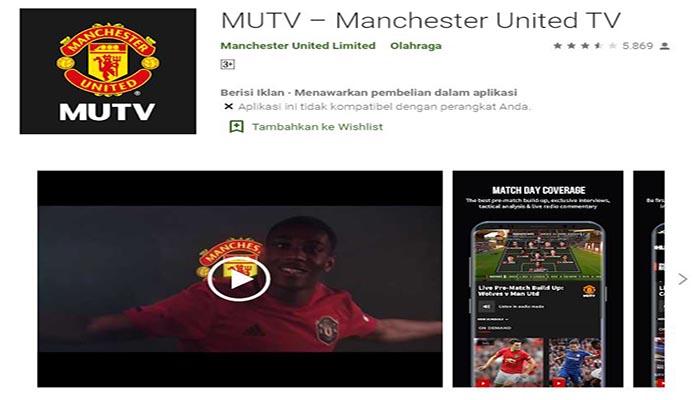 Aplikasi MUTV Penggila Sepakbola Manchester