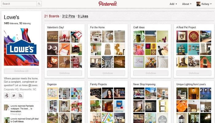 Aplikasi Pinterest