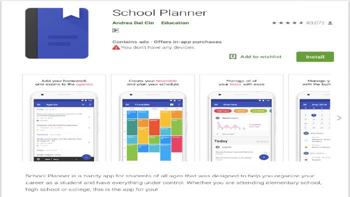 Aplikasi untuk jadwal sekolah