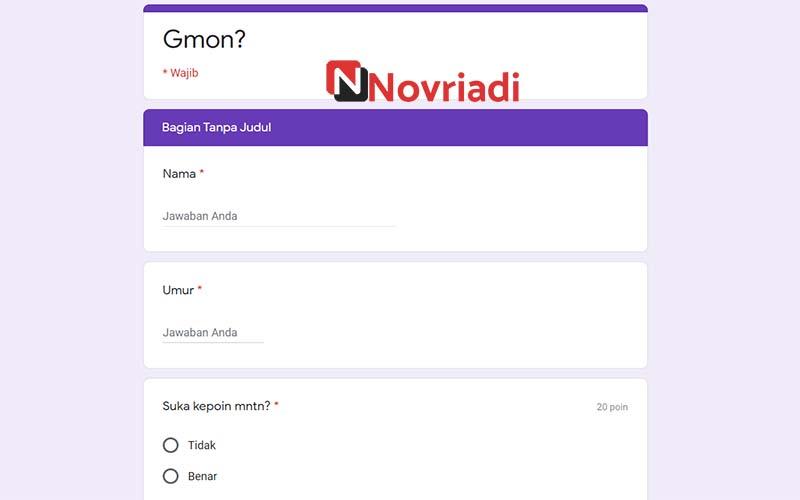 Ujian Yadong Quiz
